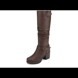 0554 Women's Chunky Heel Knee High Boots